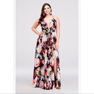 ✨SEXY FLORAL CHIFFON GOWN